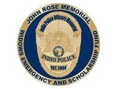 Indio Police Officers, John Rose Memorial, Widows Emergency & Scholarship Fund